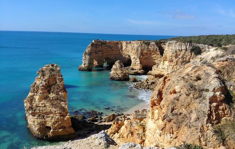 Algarve Felsstrand
