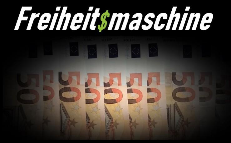 Freiheitsmaschine spendet Geld - 1000 Euro