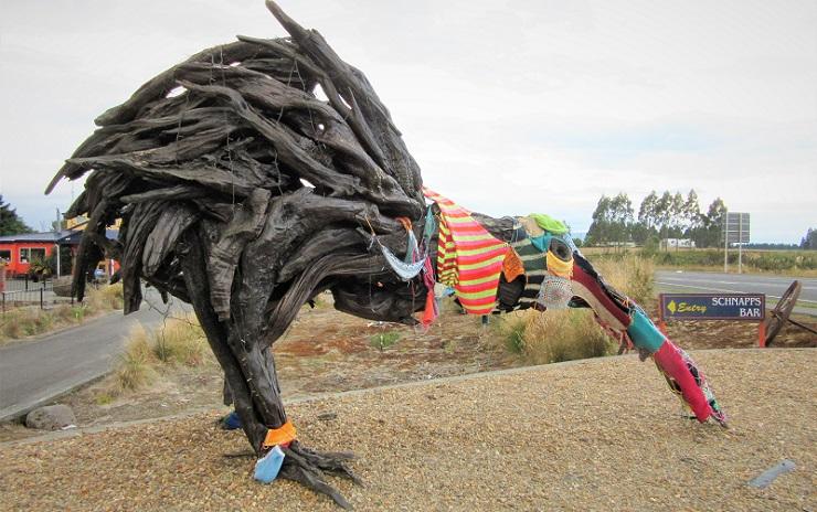 Neuseeland Skulptur Vogel Freiheitsmaschine