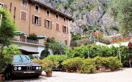 Klassischer BMW in Italien