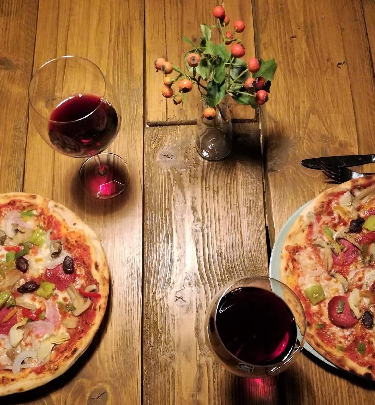 Pizza machen essen Beziehung