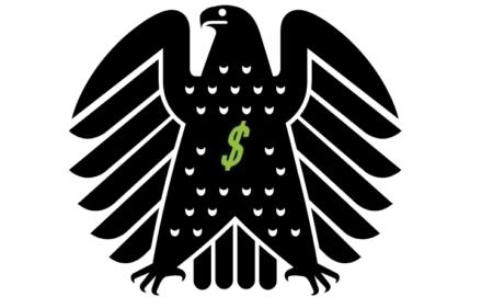 Bundesadler mit Geld Finanzen Steuern Förderung