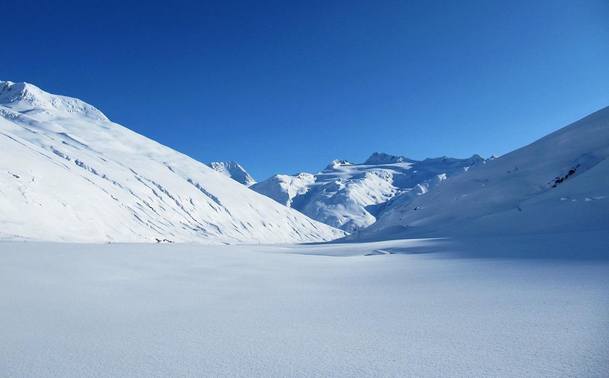 Atemberaubende Schneelandschaft